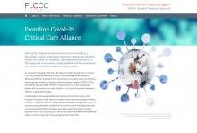 "Webseite der <strong>FLCCC Alliance</strong>, USA (since 2020): <a href=""http://www.covid19criticalcare.com"" target=""Websites designed by Frank Benno Junghanns"">www.covid19criticalcare.com</a>"